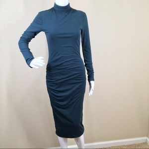 James Perse Turtleneck Midi Dress